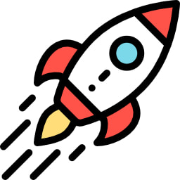 An Animated Picture Of A Rocket Taking Of Created By The JMH Group For Philadelphia SEO Team